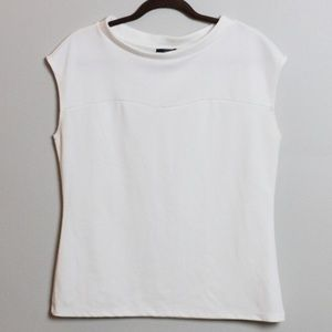 Limited Soft Cream Sleeveless Top